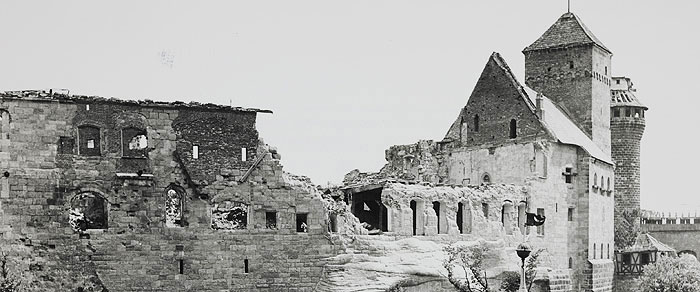 Picture: The Imperial Castle destroyed by war