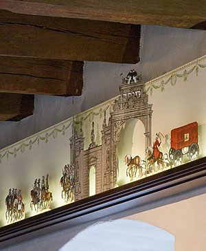 Picture: Knights' Hall, depiction of the Imperial procession at Nuremberg